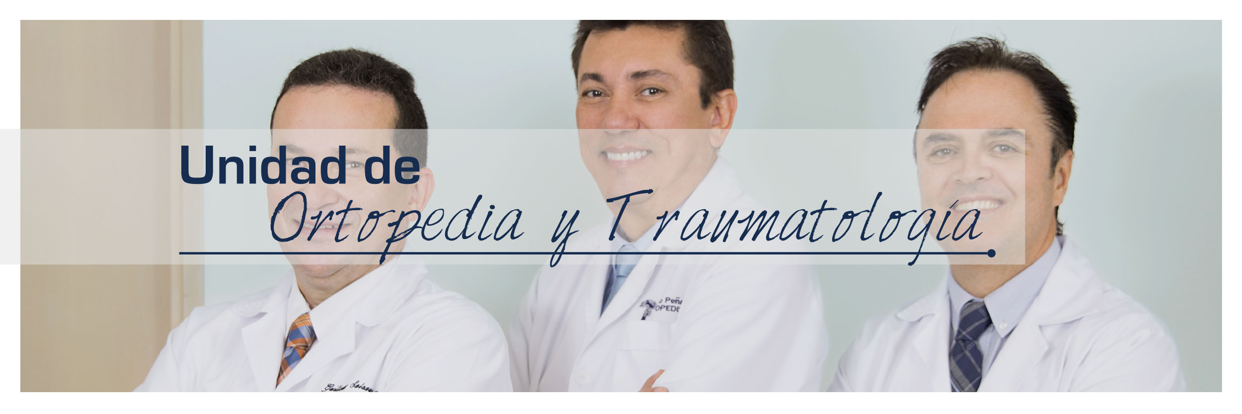 Especialistas en Ortopedia y Traumatología en la Clínica del Norte en Bello Antioquia