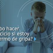 Hombre con gripa - Fundación Clínica del Norte