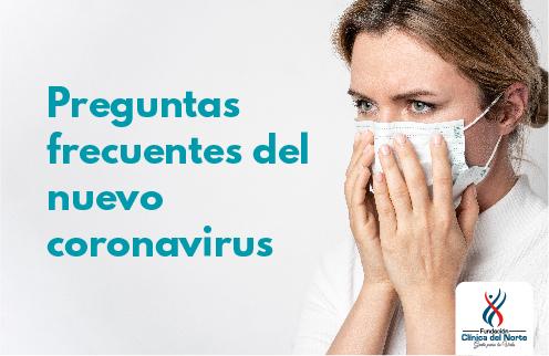 Mujer con preguntas frecuentes del nuevo coronavirus en Fundación Cínica del Norte